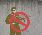Graffiti: Keine Kindersoldaten